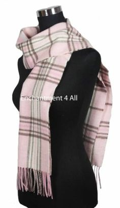 31b536959d1 Handmade-70-Classic-TARTAN-Plaids-100-2-Ply-Cashmere-Scarf-Muffler-Baby-Pink.  Merry T