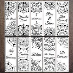 Bookmarks For Books, Creative Bookmarks, Handmade Bookmarks, Corner Bookmarks, Bookmarks To Color, Personalized Bookmarks, How To Make Bookmarks, Colouring Pages, Adult Coloring Pages
