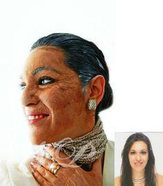 Envejecimiento  Modelo: Naroa Poulin  Maquillaje y peinado: Naroa Poulin
