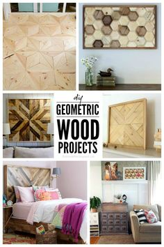 That's My Letter: 6 DIY Geometric Wood Projects