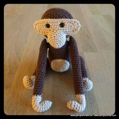 Kay Bojesen Abe_23 Crochet Animals, Crochet Toys, Knit Crochet, Learn To Crochet, Crochet For Kids, Yarn Projects, Crochet Projects, Crochet Designs, Scrappy Quilts
