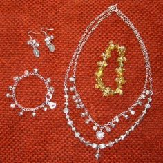 Silver Set from a bracelet - by LindaB ♻