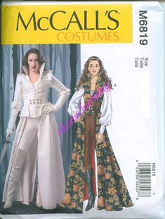 This is a new Halloween costume pattern from McCalls. This pattern is for a Hunger Games looking coat, top, corset and belt. The pattern comes in sizes 20 and Visit our shop for more Halloween costume patterns. Corset Costumes, Cosplay Costumes, Cosplay Ideas, Mccalls Sewing Patterns, Vintage Sewing Patterns, Costumes Game Of Thrones, Yennefer Cosplay, Costume Steampunk, Elven Costume