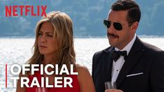 """Murder Mystery   Netflix"". Here's the trailer for #MurderMystery #MurderMysteryMovie by #KyleNewacheck starring #AdamSandler, #JenniferAniston, #LukeEvans, #GemmaArterton ."