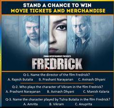 Fredrick Contest- Chance to WIN Movie Tickets, Merchandise  http://www.contestnews.in/fredrick-contest-chance-win-movie-tickets-merchandise/