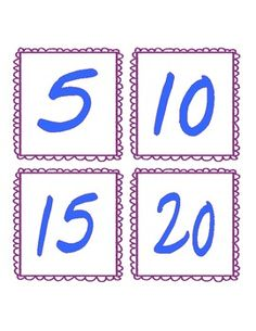 Skip Counting Flash Cards (2s, 5s and 10s)