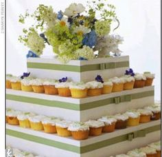 Need help on a DIY cupcake stand! :  wedding cake cupcake stand tower tree Large Image