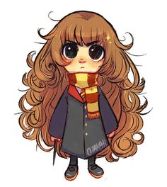 chibi hermione granger by danoikurusu - harry potter drawings Fanart Harry Potter, Harry Potter Cartoon, Mundo Harry Potter, Harry Potter Artwork, Harry Potter Drawings, Harry Potter Wallpaper, Harry Potter Characters, Harry Potter Memes, Potter Facts