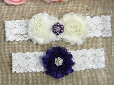 Check out this item in my Etsy shop https://www.etsy.com/listing/294843331/purple-wedding-garter-purple-bridal