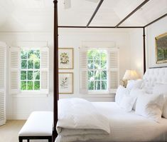 summery white bedroom.