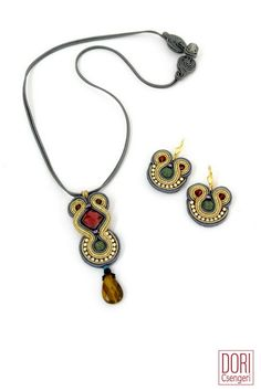 Midas pendant & Matching earrings.  #doricsengeri #handmade #earrings #pendant #Necklaceandearringsset