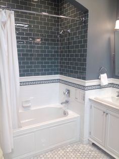 Remodel with tub Idea, tricks, furthermore overview beneficial to receiving the most effective ou. Idea, tricks, furthermore overview beneficial to receiving the most effective outcome and also making the maximum utilization of Bathroom Tub Remodel Hall Bathroom, Upstairs Bathrooms, Bathroom Renos, Bathroom Renovations, Bathroom Interior, Bathroom Ideas, Bathtub Ideas, Bathroom Inspo, House Renovations