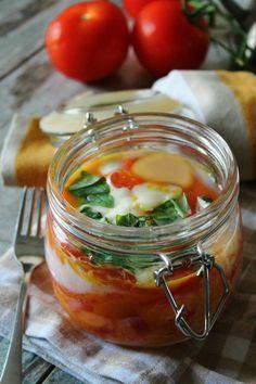 Cottura cibi in lavastoviglie: Uova al pomodoro e mozzarella