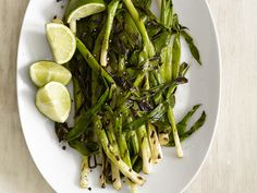 Grilled Lime Scallions #FNMag #myplate #veggies