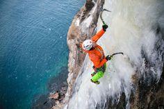 Just hanging out on Norway's sea cliffs. Alpine Climbing, Mountain Climbing, Rock Climbing, Winter Fun, Winter Sports, Bergen, Ice Climber, Wild Sports, Escalade