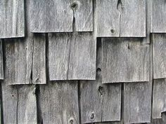 Silvered Wooden Shingles