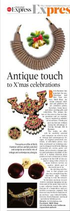 Antique touch to X'mas celebrations - New Indian Express, 23 December 2015