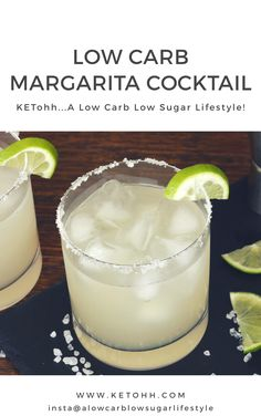 A delicious recipe for a low carb low sugar Margarita. There's no compromise at all here with flavors, as it tastes amazing. Check out for many more fab low carb low sugar cocktail recipes. Low Carb Cocktails, Cocktail Recipes, Low Sugar Alcoholic Drinks, Drink Recipes, Smoothie Recipes, Low Calorie Drinks, Calorie Diet, Smoothies, Low Carb Keto