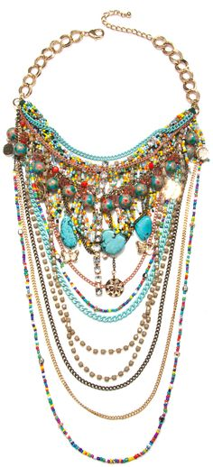 Bohemian Charm and Beaded Fringe Necklace | Capwell