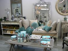 Teal & Beige all day long. Upcycle, Teal, Couch, Beige, Furniture, Home Decor, Settee, Decoration Home, Upcycling