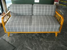 Vintage Sitzgarnituren - Klapp- und Schlafsofa  50/60-er Jahre Daybed - ein Designerstück von Fundhaus bei DaWanda