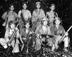 Navajo Code Talkers in the Pacific.