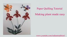 Making plant with flying butterflies made easy by using quilling paper