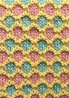 Spice Island Baby Blanket By Donna Childs - Free Knitted Pattern - (naturallycaron)