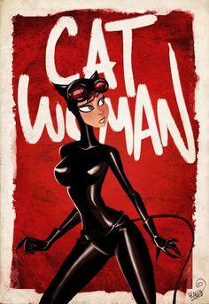 Catwoman Illustration by Frank-Olivier Égalité