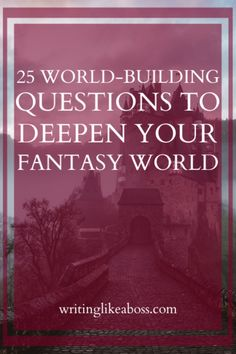 25 World-Building Questions to Deepen Your Fantasy World – writing like a boss Creative Writing Tips, Book Writing Tips, Writing Words, Fiction Writing, Writing Prompts, Writing Notebook, Writing Strategies, Writing Help, Fantasy Tips