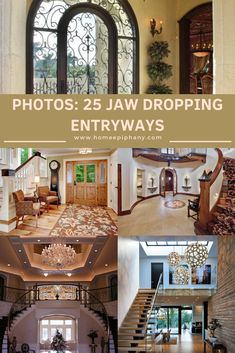 These 25 jaw dropping entryways show that no spot in your house should be left neglected. Interior Architecture, Interior And Exterior, Home And Living, Home And Family, Home Decor Inspiration, Decor Ideas, Reclaimed Wood Floors, Tuscan House, House Entrance