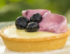 Blueberry Lemon Curd Tarts recipe served at Flower and Garden Festival at EPCOT in Disney World