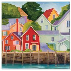Landscape Paintings and photographs : Painting of North Haven Maine