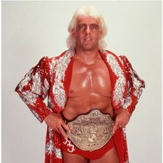 "Ric Flair with ""Big Gold"""