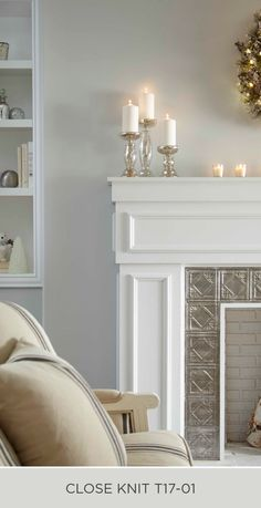 If you've been looking for a light neutral color to makeover your living room walls, then Close Knit could be the color for you. Check out this collection of coordinating color palettes from BEHR to see all the different ways that you can use this versatile color. Click here for more DIY design inspiration.
