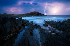 A beautifully chaotic moment a few nights back, off the coast of NSW whilst on a road trip with my wife and son. After a big year of travel it was nice to visit locations closer to home and still be inspired by what nature had to offer. I watched this storm roll in at sunset and then it moved out to sea, continuing to illuminate the sky throughout the night. An hour before this I captured what I think will be one of my favourite images of the past few years however I'll be taking my time ti…