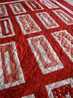 Straight Line Quilting...Hints and Tips    -- but I love the quilt pattern/fabric