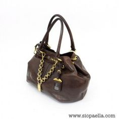 85d26edd1604 Prada Brown Shoulder Bag with Chain Detail Siopaella Designer Exchange