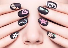 Instructions on how to create a chalkboard manicure!
