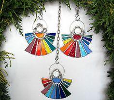 Tiffany-AS-Design: Regenbogenengel im 3er Set für Weihnachten (RE3)