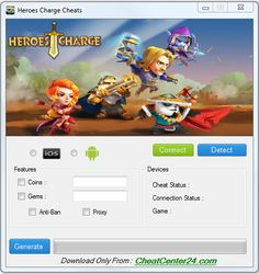 Heroes Charge Cheats Guide