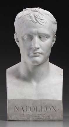 Sèvres - After Antoine-Denis Chaudet (1763–1810) - Bust of Napoleon.  Hard-Paste Biscuit Porcelain. Circa 1806. Museum of Fine Arts, Boston.