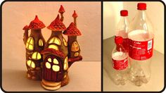 ❣DIY Fairy House Lamp Using Coke Plastic Bottles❣ A clever idea for a childs night light.