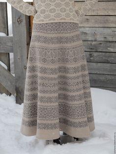 юбка вязаная жаккардовая – купить в интернет-магазине на Ярмарке Мастеров с доставкой