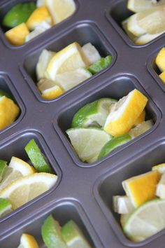 Garbage Disposal Tablets: cut up lemons + limes add vinegar freeze. *seriously brilliant