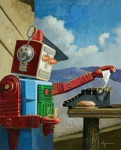 Eric Joyner - What is this robot doing? I don't know. But he looks very intent, doesn't he?