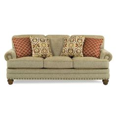 """88"""" Taupe Upholstered Sofa"""