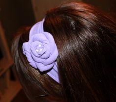 T-Shirt Flower Headband Tutorial www.thecraftyblog...