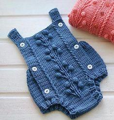 Currant Romper (crochet, recipe) pattern by Marina Ayueva - Ravelry: Currant Romper (crochet) pattern by Marina Ayueva - Crochet Romper, Crochet Bebe, Baby Girl Crochet, Crochet Baby Clothes, Crochet For Kids, Knit Crochet, Baby Dress Patterns, Baby Clothes Patterns, Baby Knitting Patterns