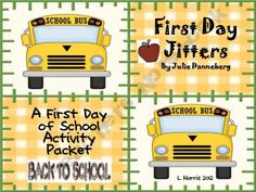 Activity packet for First Day Jitters!  Fun!